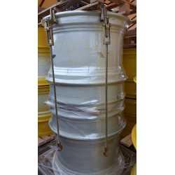 IKERFELNI 23X38 SYSTEM AP DUAL D385 MM, 6 kapocs, NH fehér